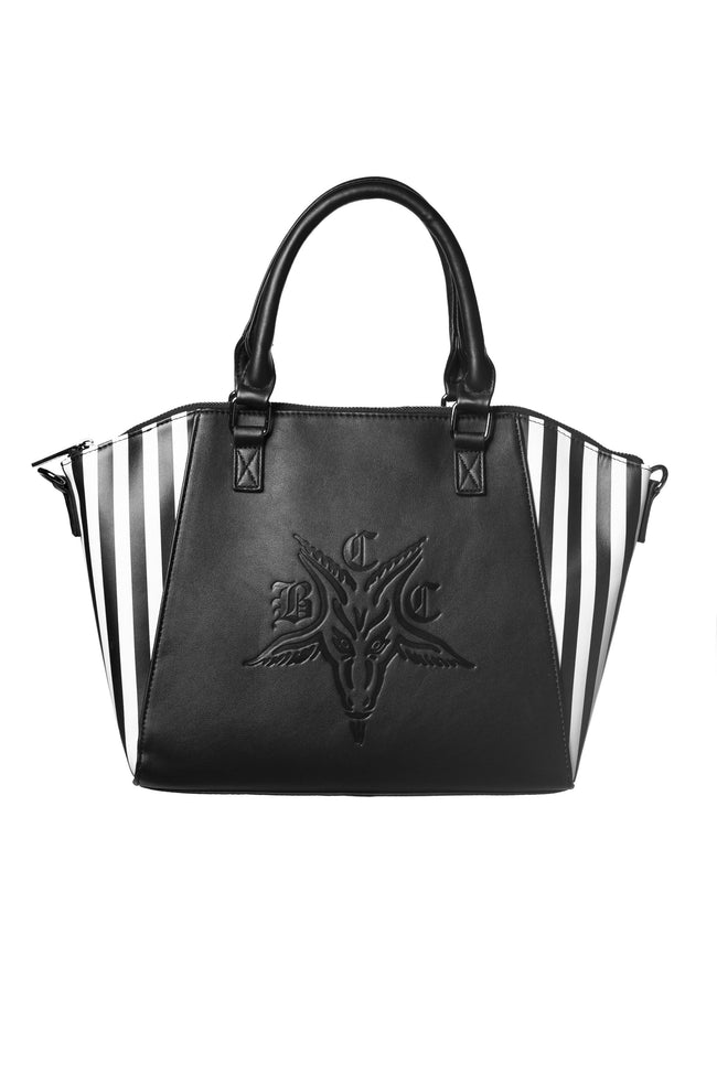 Goat Embossed Striped | SATCHEL BAG