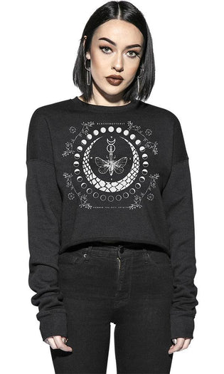 Moth Moon Phase | CROPPED SWEATER