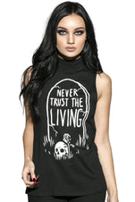 Never Trust The Living | SLEEVELESS HIGH NECK TEE LADIES