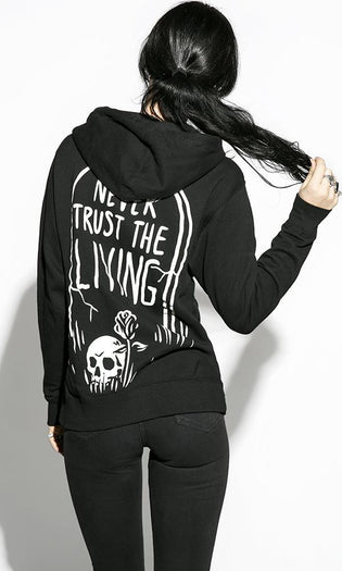 Never Trust The Living | ZIP UP HOODIE