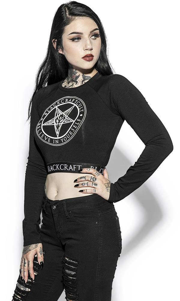 Pentagram | LONG SLEEVE CROP TOP