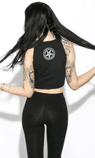Satan Is My Daddy | Sleeveless CROP TOP