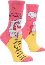 Always Be A Unicorn | CREW SOCKS*