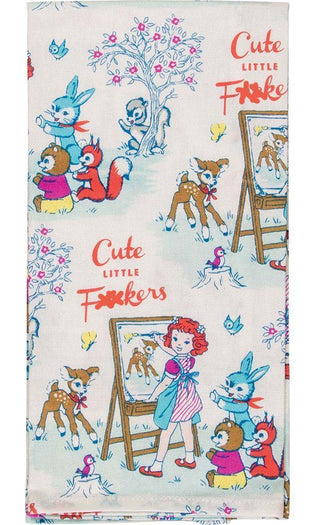 Cute Little F@#Kers | DISH TOWEL