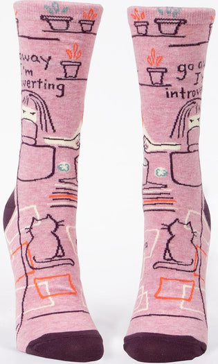 Go Away I'm Introverting | CREW SOCKS
