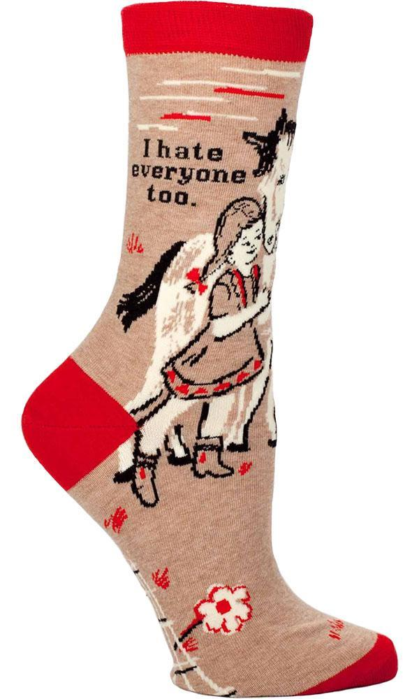 I Hate Everyone | CREW SOCKS LADIES