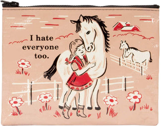I Hate Everyone Too | ZIPPER POUCH