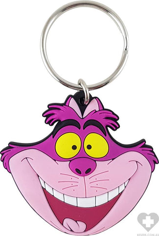 Alice In Wonderland | Cheshire Cat Head Soft Touch KEYRING