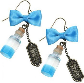 Alice In Wonderland | Curiouser Bottle EARRINGS