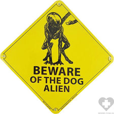 Beware of the Dog Alien | TIN SIGN