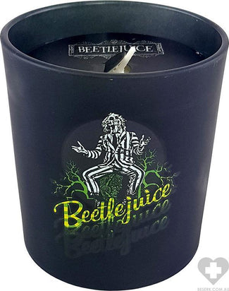 Beetlejuice | Large GLASS CANDLE