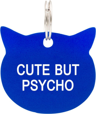 Cute But Psycho [Blue] | CAT TAG