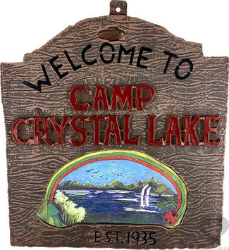 Friday the 13th | Camp Crystal LAKE SIGN