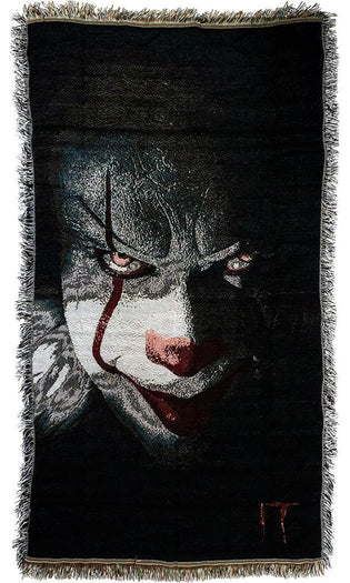 It 2017 | Pennywise Face THROW BLANKET