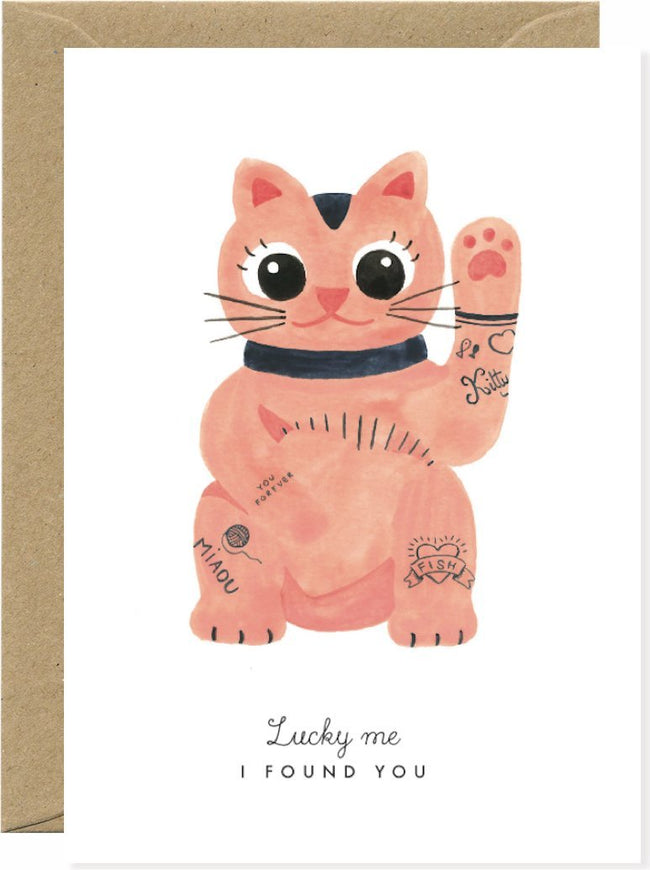 Lucky Cat | GREETING CARD