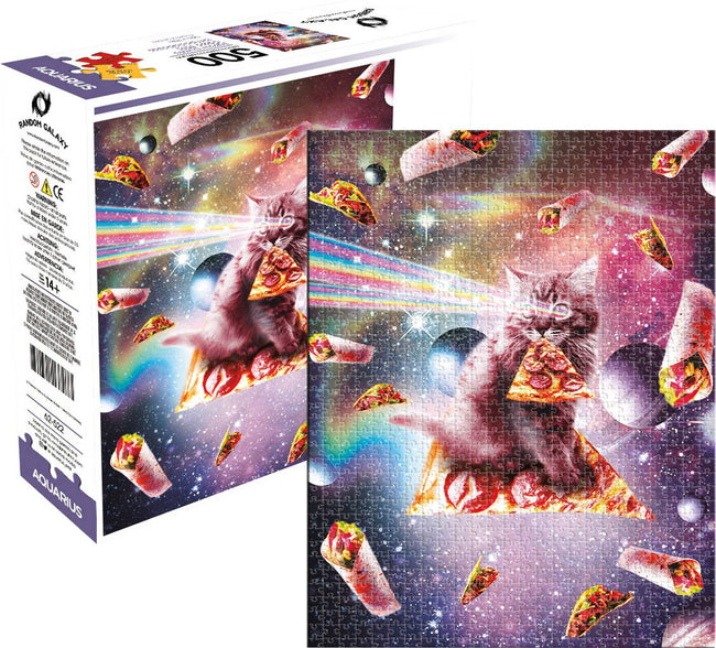 Random Galaxy | Cat Pizza [500 Pce] PUZZLE