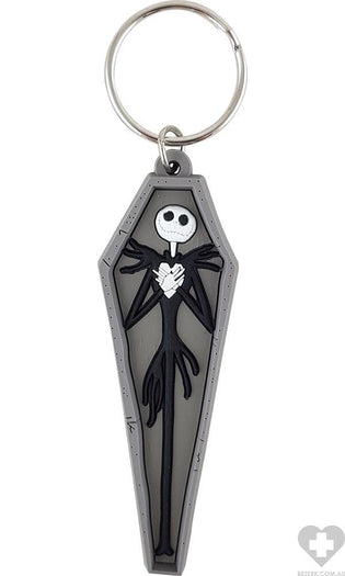 The Nightmare Before Christmas | Jack Skellington In Coffin Soft Touch KEYRING