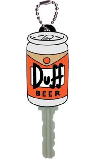 The Simpsons | Duff Beer Soft Touch PVC KEY HOLDER