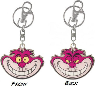 Two Sided Coloured Alice In Wonderland | Cheshire Cat Pewter KEYRING