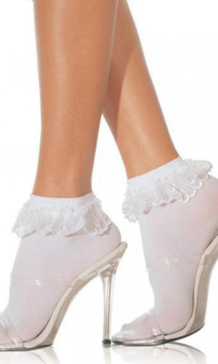 Lace Ruffle [White] | ANKLE SOCKS