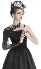 Black Gothic Flower | LACE SLEEVE