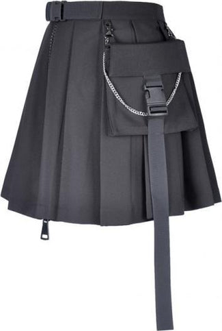 Pleated Short | SKIRT WITH BAG