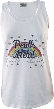 Death Metal White | SLUB VEST LADIES