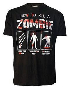 How To Kill A Zombie [Black] | T-SHIRT MENS