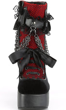 CHARADE-110 [Black Velvet/Red] | BOOTS [PREORDER]