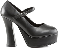 DOLLY-50 [Black] | PLATFORM HEELS [PREORDER]