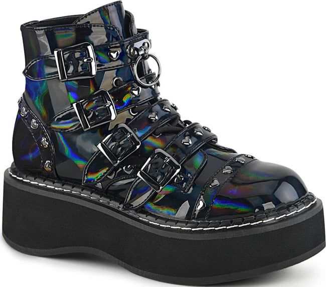 EMILY-315 [Black Holo] | BOOTS [PREORDER]