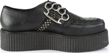V-CREEPER-516 | Black Vegan Leather [PREORDER]