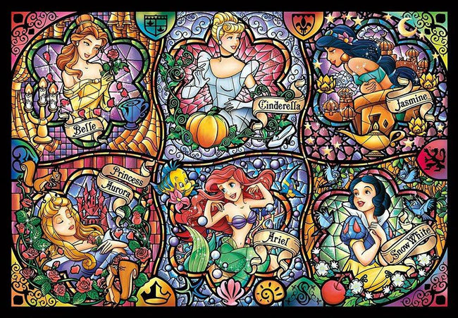Disney | Brilliant Princess Stained Glass [500 Pce] PUZZLE