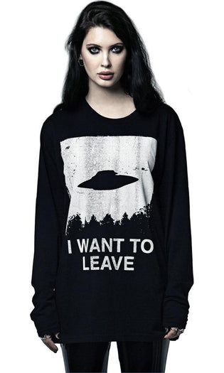 I Want To Leave Long Sleeve | T-SHIRT UNISEX