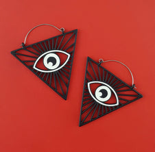 All Seeing Eye Plug Hoop | EARRINGS