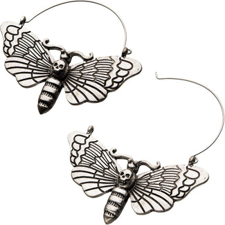 Death Moth Plug Hoop | EARRINGS