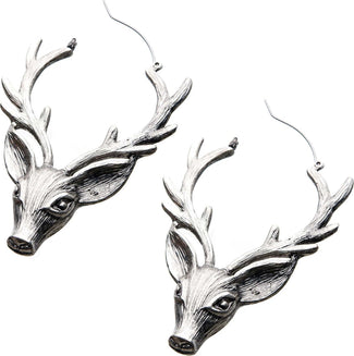 Deer Head Plug Hoop | EARRINGS