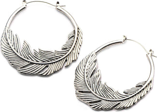 Feather Plug Hoop | EARRINGS