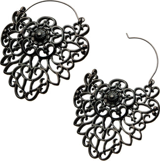 Filigree Crest Plug Hoop | EARRINGS