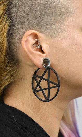 Pentagram Plug Hoop | EARRINGS