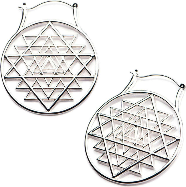 Sacred Geometry Plug Hoop | EARRINGS