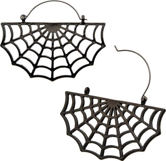 Spider Web Plug Hoop | EARRINGS