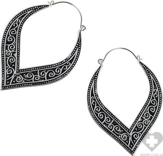 Swirl Plug Hoop | EARRINGS