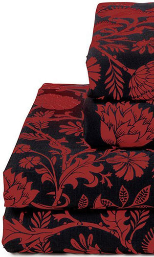 Elysian Fields [Black\Red] | QUEEN SHEET SET