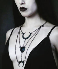 Moon Phases [Black] | NECKLACE