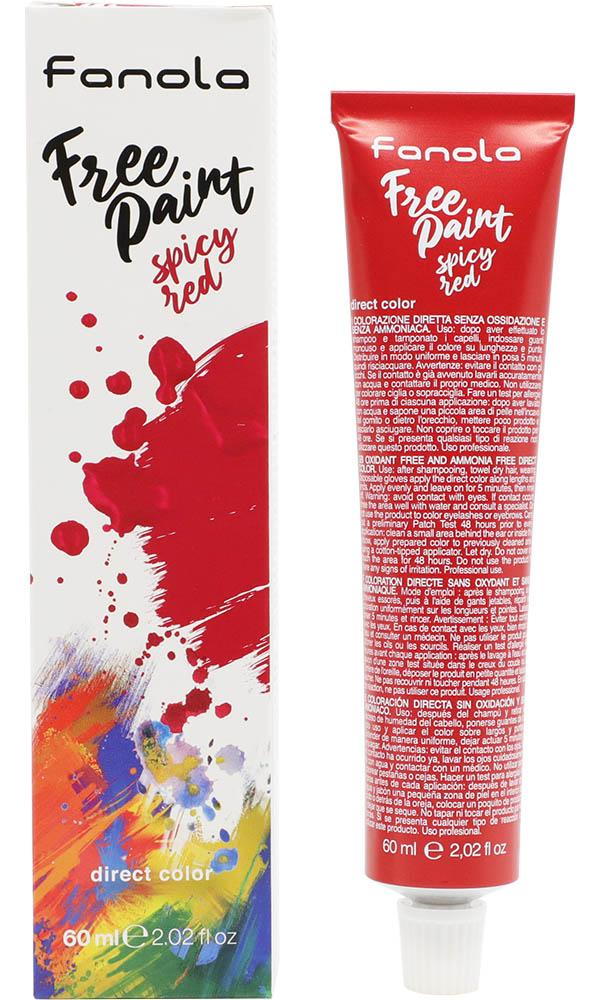 Spicy Red Free Paint | HAIR COLOUR