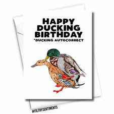 F*cking Ducking Autocorrect | GREETING CARD