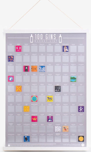 100 Gins | SCRATCH POSTER
