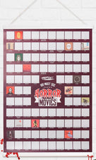 100 Must See Horror Movies | SCRATCH POSTER