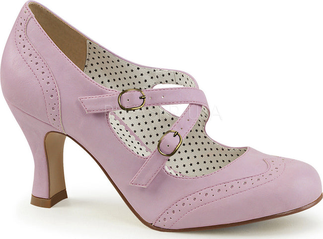 FLAPPER-35 Lavender Faux Leather